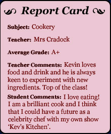 Report Card - Cookery