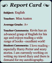 Report Card - English